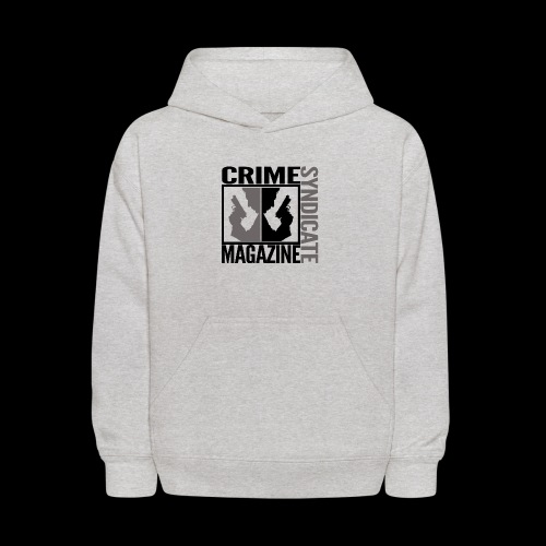CRIME SYNDIATE MAGAZINE LOGO (No Background) - Kids' Hoodie