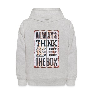 Always think outside the box - Kids' Hoodie