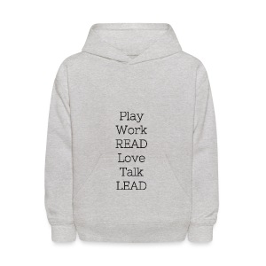 Play_Work_Read - Kids' Hoodie