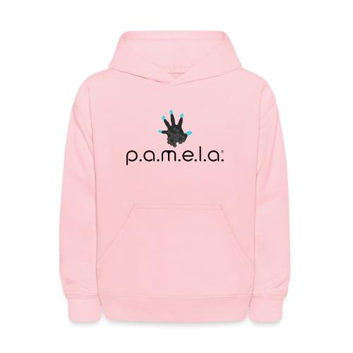 P.A.M.E.L.A. Logo Black - Kids' Hoodie