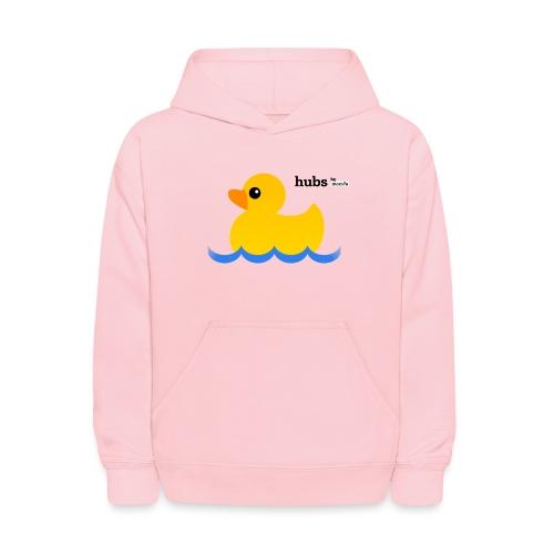 Hubs Duck - Wordmark and Water - Kids' Hoodie