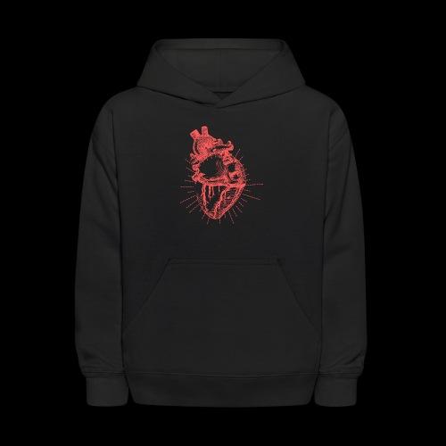Hand Sketched Heart - Kids' Hoodie