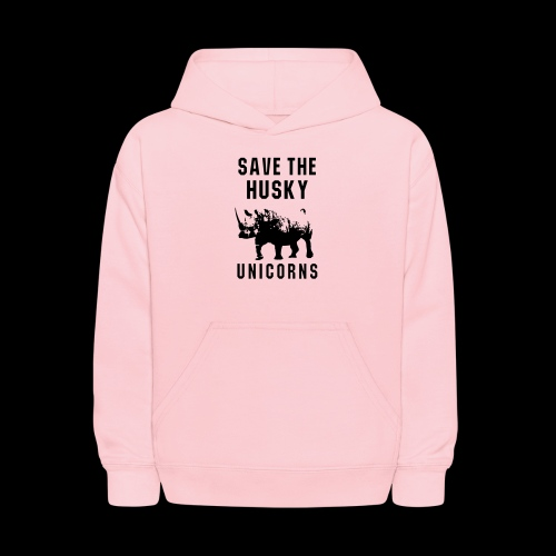 Save the Husky Unicorns   Funny Rhino - Kids' Hoodie