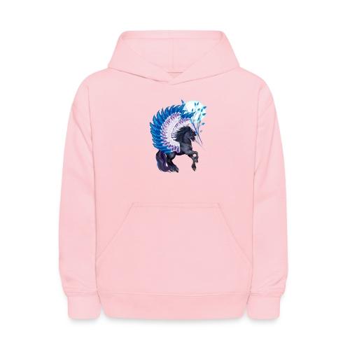 Blue Winged Pegasus - Kids' Hoodie