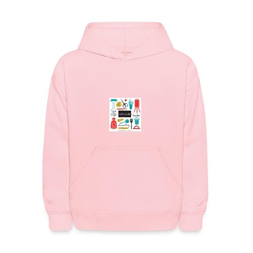 pink noodle - Kids' Hoodie