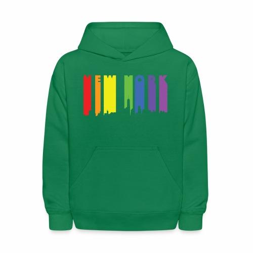 New York design Rainbow - Kids' Hoodie