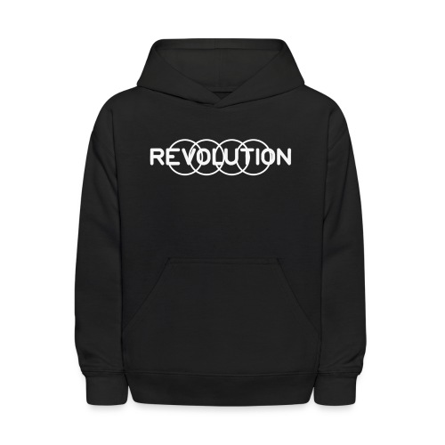 White Revolution Logo - Kids' Hoodie