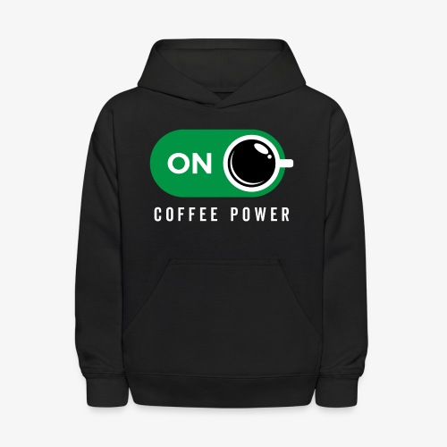 Coffe Power On - Kids' Hoodie