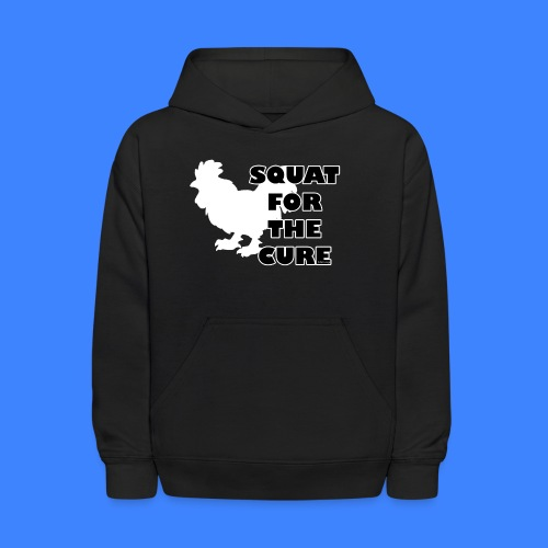 Squat For The Cure - Black (female) - Kids' Hoodie