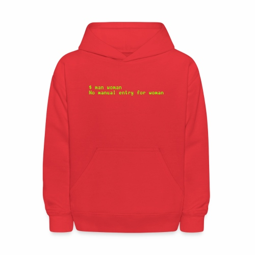 man woman. No manual entry for woman - Kids' Hoodie
