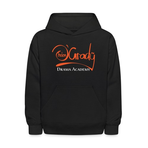 Helen O'Grady Orange Logo on Black - Kids' Hoodie