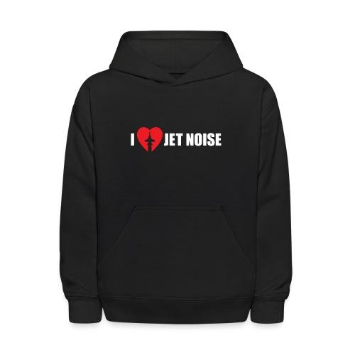 I Love Jet Noise Aviation Heart - Kids' Hoodie