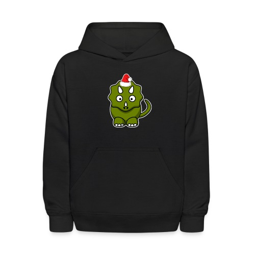 Happy Holidays Triceratops - Kids' Hoodie
