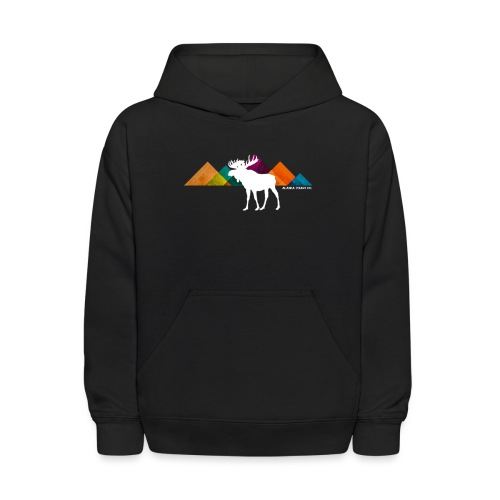 Moose and Mountains Design - Kids' Hoodie