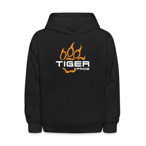 IV Tiger Pride on Black - Kids' Hoodie