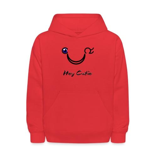 Hey Cutie Blue Eye Wink - Kids' Hoodie