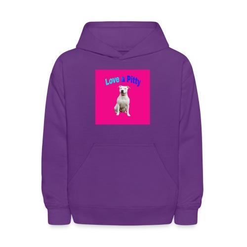 Pink Pit Bull - Kids' Hoodie