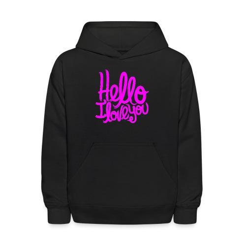 Hello I Love You 128 - Kids' Hoodie