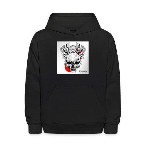 zt flameskull 01 - Kids' Hoodie