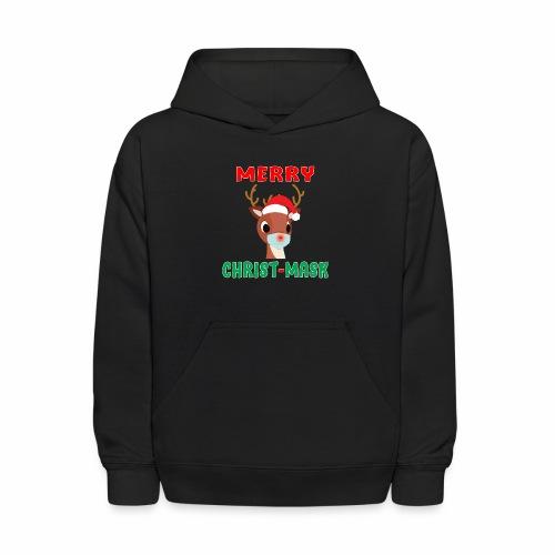 Merry Christmask Rudolph Red Nose Mask Reindeer. - Kids' Hoodie