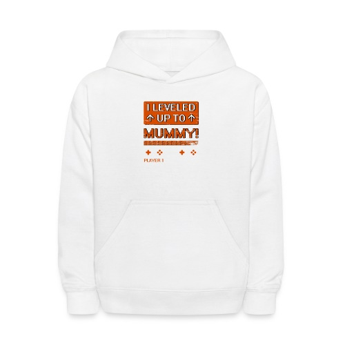 I Leveled Up To Mummy - Kids' Hoodie
