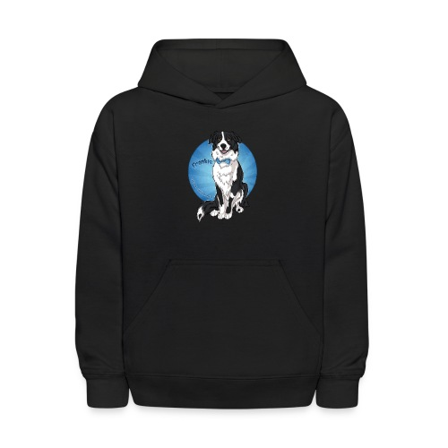 Border Collie Frankie Full Colour With Name - Kids' Hoodie
