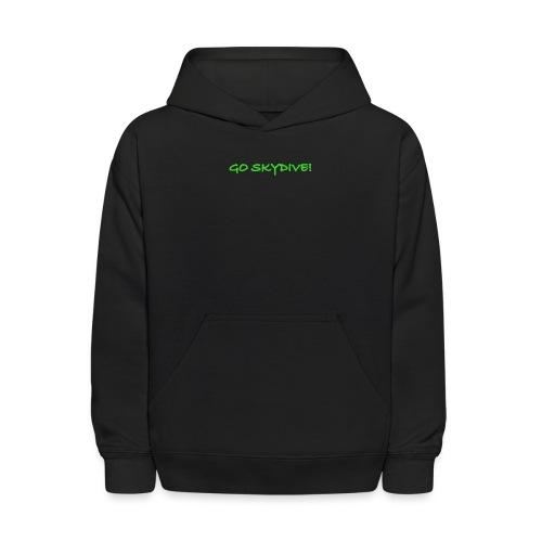 Go Skydive T-shirt/Book Skydive - Kids' Hoodie
