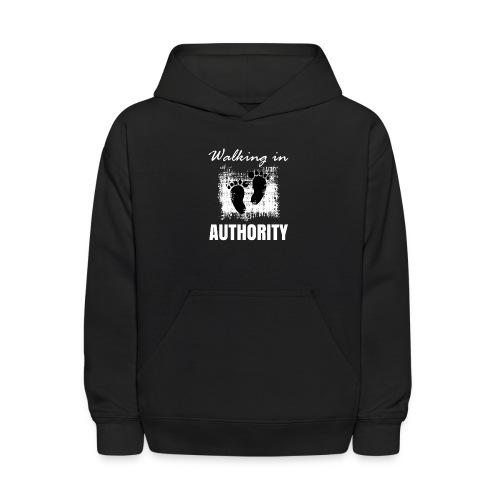 Walking in authority - Kids' Hoodie