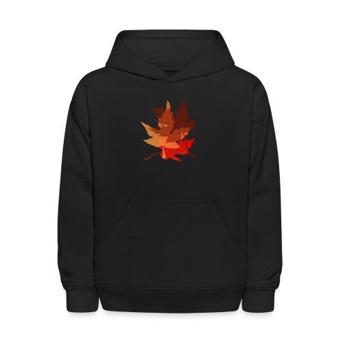 Big Autumn Leaves - Kids' Hoodie