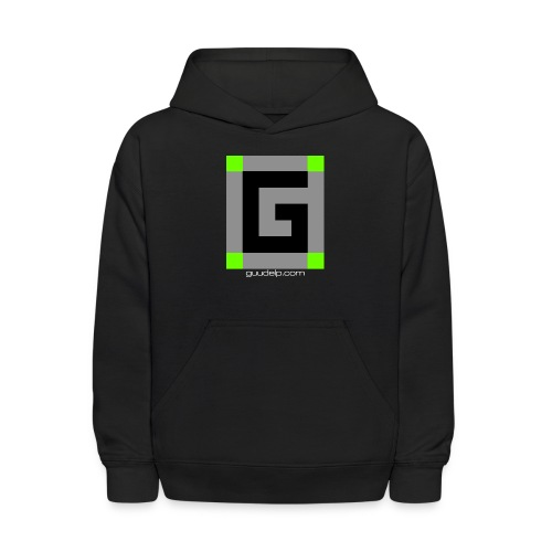 Guude Logo with White Text - Kids' Hoodie