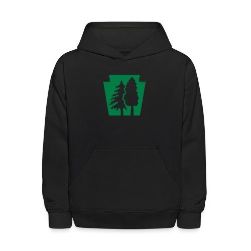 PA Keystone w/trees - Kids' Hoodie