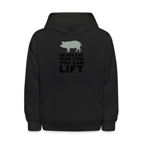 Never eat more than you can lift 2c (++) - Kids' Hoodie