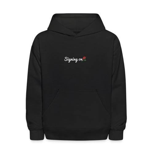 The Classic Signing On Print - Kids' Hoodie