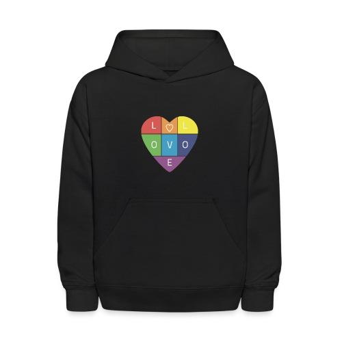 Rainbow Heart - Kids' Hoodie
