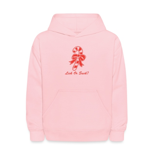Lick Or Suck Candy Cane - Kids' Hoodie