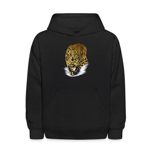 Golden Snow Tiger - Kids' Hoodie