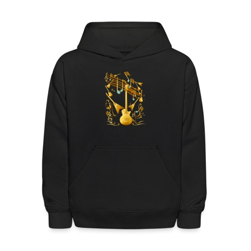 Gold Guitar Party - Kids' Hoodie