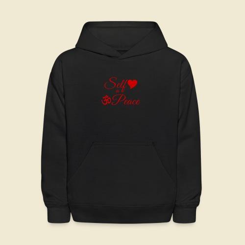 108-lSa Inspi-Quote-83.b Self-love = OM-Peace - Kids' Hoodie