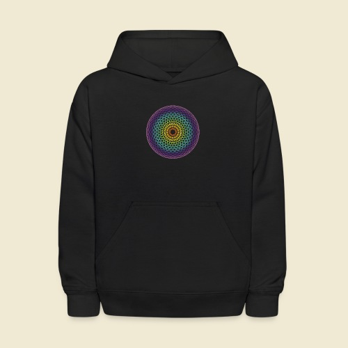 Torus Yantra Hypnotic Eye rainbow - Kids' Hoodie