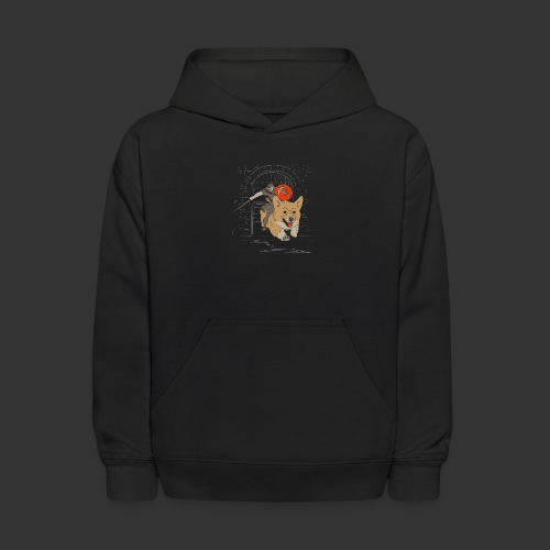 A Corgi Knight charges into battle - Kids' Hoodie
