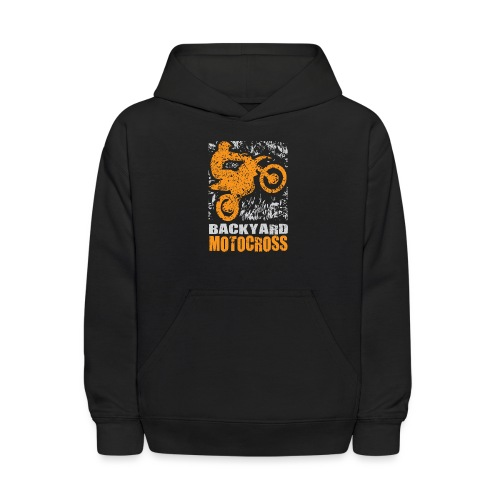 Motocross Backyard Orange - Kids' Hoodie