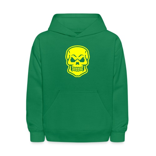 Skull vector yellow - Kids' Hoodie
