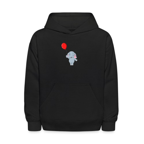 Baby Elephant Holding A Balloon - Kids' Hoodie