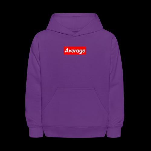 Average Supreme Logo Mockup - Kids' Hoodie