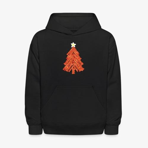 Funny Bacon and Egg Christmas Tree - Kids' Hoodie