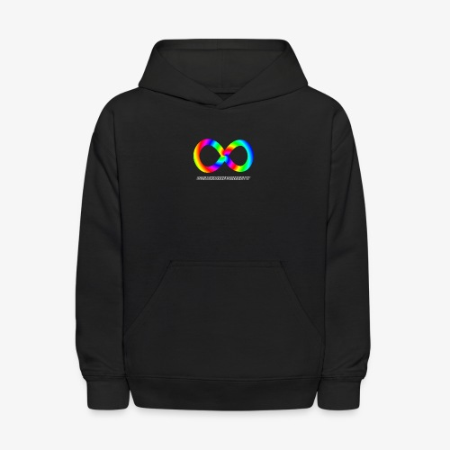 Neurodiversity with Rainbow swirl - Kids' Hoodie