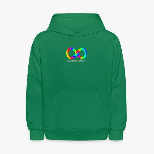 Neurodiversity with Rainbow swirl - Kids' Hoodie