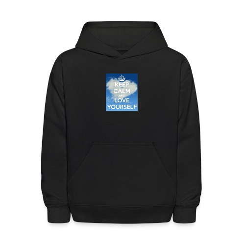 Keep calm and love yourself - Kids' Hoodie