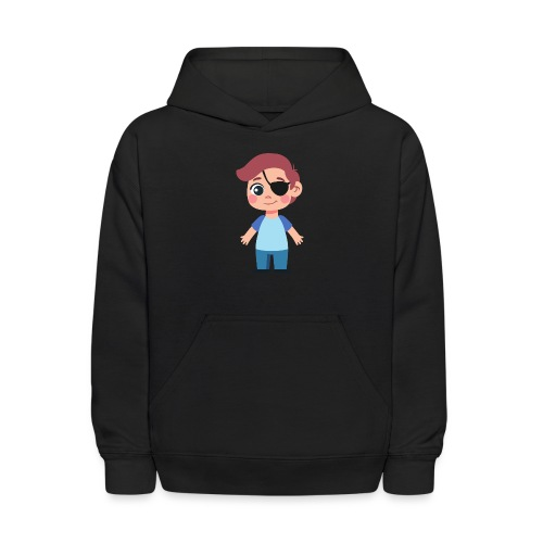 Boy with eye patch - Kids' Hoodie