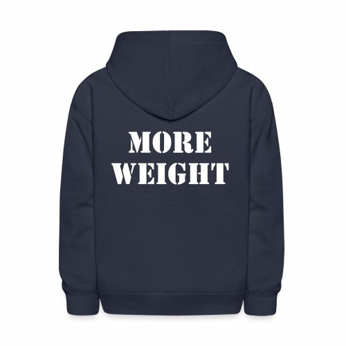 """More weight"" Quote by Giles Corey in 1692. - Kids' Hoodie"